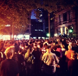 #lightthedark - Town Hall Square, Sydney, Sunday 23rd February