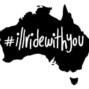 #illridewithyou - a powerful movement started in Australia on December 15, 2015. Photo credit: twitter.com.au