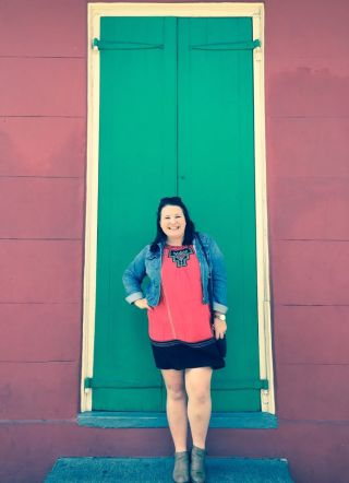 Colourful doors and walls of the French Quarter