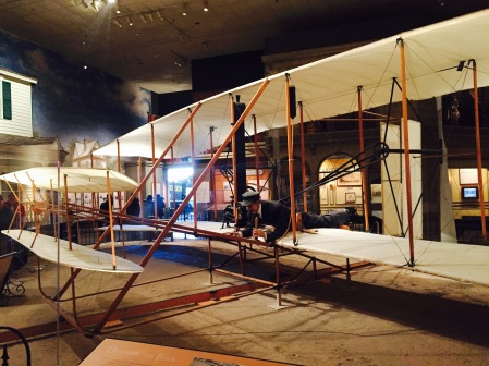 Model of the Wright Brothers' first plane