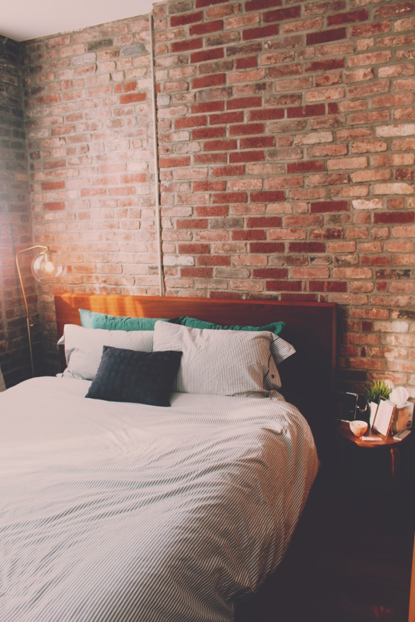 Bed frame from West Elm and mattress from Casper