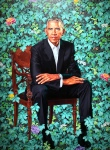 Barack Obama's portrait in the National Portrait Gallery